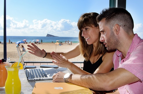 work and play in Benidorm